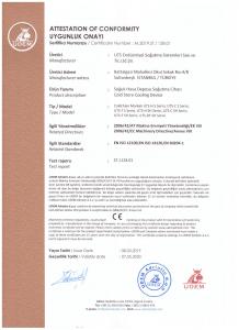 uts endüstriyel soğutma ce sertifikası